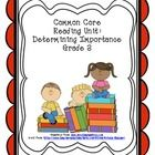 Reading Unit: Determining Importance  Here are 10 different graphic organizers to use with fictional and/or informational texts. Each page focuses on teaching the reading strategy, Dete...