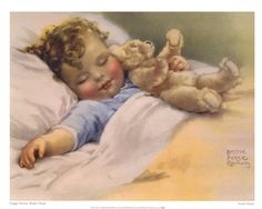 Bessie Pease Gutmann - Happy Dreams - art prints and posters