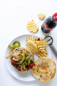 Sausage and Peppers Burger | Real Food by Dad