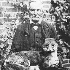 Walter Potter.  English taxidermist of the Victorian era, known for his whimsical anthropomorphic dioramas.