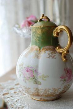 Limoges porcelain chocolate pot - beautiful shape