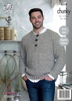 Free Knitting Pattern Mens Chunky Jumper : Lil Grandpa Cardigan, a free knit pattern, for a little boy (Sizes 1 - 1...