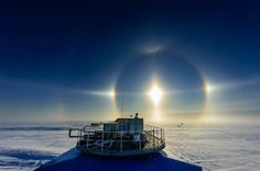 Michal Krzysztofowicz: Sun halo over Halley