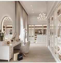 Mansion Interior, Home Interior Design, Decoration Stickers, Dressing Room Design, Closet Designs, Luxurious Bedrooms, Bedroom Decor, House Design, Home Decor