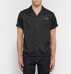 Visvim - Irving Camp-Collar Embroidered Satin-Twill Shirt