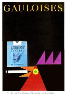Poster by Donald Brun for Gauloises. Those were the days.