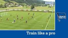 Training unter Jos Luhukay   Kombinationsspiel   Train like a Pro   Hert...