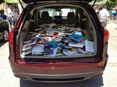 trunk full of books