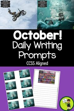 32 Daily Writing Prompts October USA - This product contains 32 writing prompts (CCSS aligned) in 3 formats - powerpoint, writing journey and worksheet. Suitable for Grade 3 to Grade 7. Only available at Top Teaching Tasks.