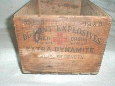Vintage explosives crate