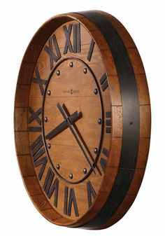 Vino Time Rustic Barrel Clock