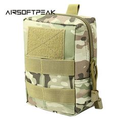 Outdoor 1000D Military Molle Equipment Waist Bag Tactical Portable Waterproof Small Size Waist Pouch Camping Hiking Package