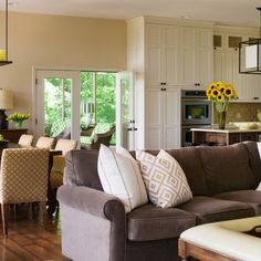 open concept living, dining, kitchen with great flow!