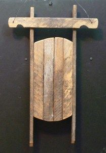 Wood lath sled - Think I could do a reproduction from a pallet....