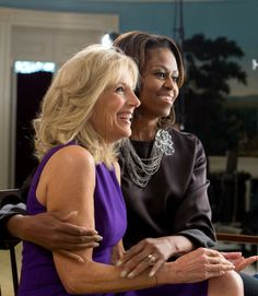 Michelle Obama and Dr Jill Biden FLOTUS - Happy 50th Birthday