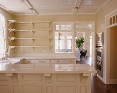 Tan Kitchen Cabinets - Design photos, ideas and inspiration. Amazing gallery of interior design and decorating ideas of Tan Kitchen Cabinets in kitchens by elite interior designers. Off White Kitchen Cabinets, Off White Kitchens, Home Kitchens, White Cabinets, Cottage Kitchens, Kitchen White, Base Cabinets, Craftsman Kitchen, Craftsman Style