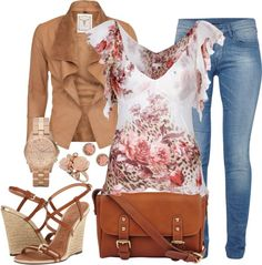 """Romantic Casual"" by queenmdp on Polyvore"