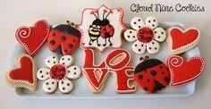 Love Bug Valentine's Day Cookies      Cloud Nine Cookies
