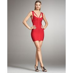 Herve Leger V-Neck Red Bandage Dress HLC321 hunting for limited offer,no taxes and free shipping.#dress #dresses #womenfashion #herveleger #hervelegerdresses