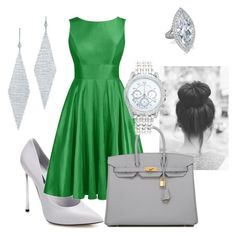 """""""Slytherin Luncheon"""" by kgarrett353 on Polyvore featuring Casadei, Hermès, Lane Bryant and Tiffany & Co."""