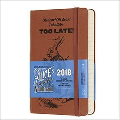 Moleskine Limited Edition Alice in Wonderland, 12 Month Daily Planner, Pocket, Coral Orange (3.5 x 5.5): Moleskine: 8055002855402: Books - Amazon.ca