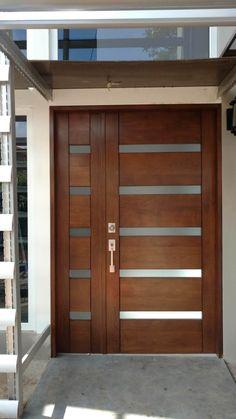 The Cipresal Projects main door - Haustüren - Door Design Modern Entrance Door, Main Entrance Door Design, Modern Exterior Doors, Door Gate Design, Door Design Interior, Front Door Entrance, House Front Door, Wooden Front Doors, Modern Front Door