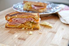 Grilled Ham, Cheese, Pickle, and Potato Chip Sandwich Recipe