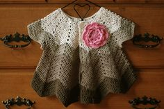 Crochet Baby Cardigan - http://www.freevintagecrochet.com/baby/no106-baby-set-pattern.html