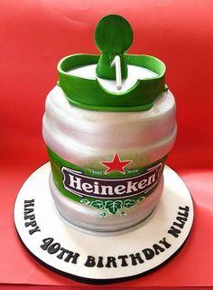 Heineken Keg Cake - Cake by Cakes Glorious Cakes