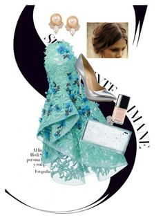 """#dress #prom #nice"" by ladyanyainny on Polyvore featuring косметика, Monique Lhuillier, Kate Spade, Casadei, Carolee и Chanel"