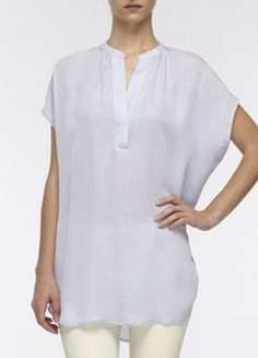 Vince cap sleeve silk popover in lilac