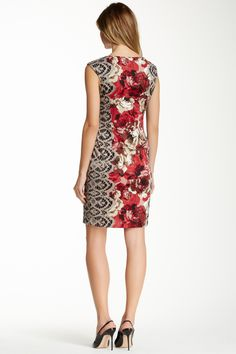 Maggy London Cap Sleeve Printed Ponte Sheath Dress by Maggy London on @nordstrom_rack