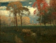 George Inness  one of my favorite artists.  The subtleties and abstract qualities of so many of his works are an inspiration and a comfort.