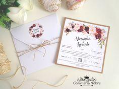 Convite de Casamento Marsala - M008