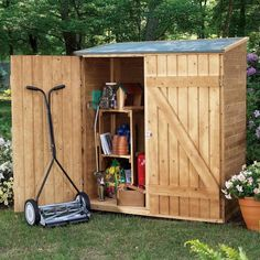 Shed Plans - Small Storage Building Plans : Diy Garden Shed A Preplanned Check List . Now You Can Build ANY Shed In A Weekend Even If You've Zero Woodworking Experience! Outdoor Tools, Outdoor Tool Storage, Garden Storage Shed, Outdoor Sheds, Garden Sheds, Garden Tools, Backyard Storage, Backyard Toys, Backyard Sheds
