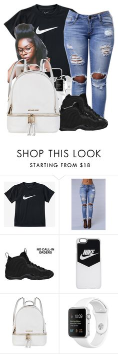 """Untitled #295"" by darkskinn-awa ❤ liked on Polyvore featuring NIKE and Michael Kors"