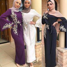 Abaya Dubai Turkey Muslim Hijab Dress Kaftan Caftan Marocain Islamic Clothing For Women Ramadan Dresses Islam Robe Musulman-in Islamic Clothing from Novelty & Special Use on AliExpress Dubai Fashion, Abaya Fashion, Muslim Fashion, Fashion Dresses, Islamic Fashion, Hijab Evening Dress, Hijab Dress, Dress Robes, Shirt Dress