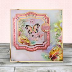 Card created using Hunkydory Crafts' Rose Gold Moments - Always Believe Topper Set
