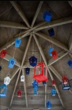 Not in these colors but I love lanterns red, white, and blue wedding