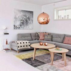 salon en couleur pastel et déco scandinave