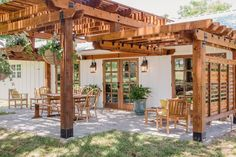 Love everything about this!!! A bunk room... this patio...it's all beautiful