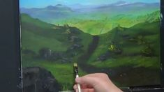 Mountain walk brecon, Acrylic painting for beginners, Acrylic Landscape ...