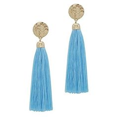 fishhook Blue Circle Black Thread Tassel Earrings Fashion Statement White Simulated Pearls Long Dangle Drop Earrings for Party Summer Casual Daily Wear