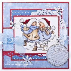 Mo Manning - Eskimo Kisses The Hobby House Die-Cut Card Toppers Christmas @ The Hobby House Christmas Cards To Make, Xmas Cards, Handmade Christmas, Pretty Cards, Cute Cards, Mo Manning, Scrapbook Layout Sketches, Whimsy Stamps, Hobby House
