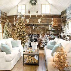 Farmhouse Christmas Decor Ideas | Pinterest | Farmhouse christmas ...