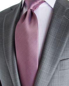 Ermenegildo Zegna | Light Grey with Pale Grey Plaid Suit | Apparel | Men's