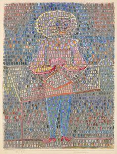 Boy en disfraces  Paul Klee (alemán (nacido en Suiza), Münchenbuchsee 1879-1940 Muralto-Locarno)  Fecha: 1931 Medio: Acuarela y gouache sobre papel Dimensiones: H. 23-1/2, W.17-3/4 pulgadas (59,7 x 45,1 cm.) Clasificación: Dibujos Línea de crédito: La Colección Berggruen Klee, 1988
