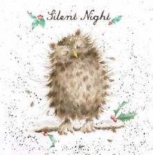 Wrendale Designs Country set Christmas Card Owl asleep Silent Night