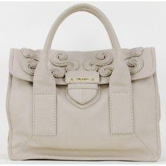 Prada Beige Canvas 'Shopping Pattina' Tote Bag