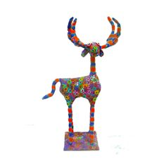Reindeer Collectibles with  floral pattern  design  by MIRAKRIS, $150.00